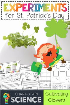 St. Patrick's Day Experiments for Kids!  5 low-prep, engaging science experiments, journals, and follow up interactive resources for K-2 students.