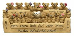 Gold Wedding Anniversary Couch with Parents & Kids Christmas Gift Idea Personalized Free for Xmas Holidays