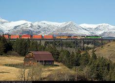 RailPictures.Net Photo: BNSF 8162 BNSF Railway EMD SD60M at East Glacier, Montana by Dave Schauer