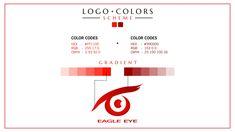 Concept Portfolio Eagle Eye Logo Typographic Logo, Typography, Logo Color Schemes, Eye Logo, Eagle Eye, Logo Design, Graphic Design, Company Logo, Concept