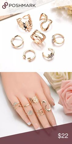 7pc adjustable rose gold color midi rings 7pc adjustable rose gold color midi rings Jewelry Rings