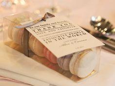Sweet Thank Yous | #WeddingFavors | #Macarons | Kat Hadford Photography