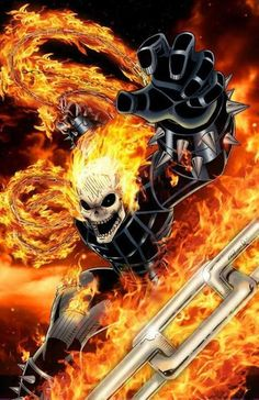 Ghost Rider by Cliff England (Marvel comics) Marvel Comics Art, Marvel Heroes, Anime Comics, Captain Marvel, Ghost Rider Johnny Blaze, Ghost Rider Marvel, Comic Book Characters, Marvel Characters, Comic Books