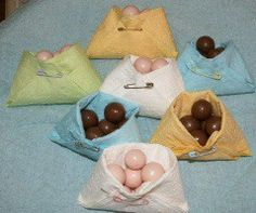 Napkin diapers baby-shower-ideas. What would Nancy think if I showed up with these...