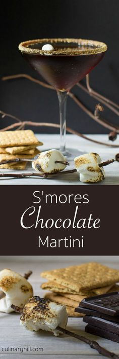 A rich, indulgent chocolate martini with all the trappings of traditional S'mores. It's a summer time treat you can enjoy without the camp fire! Directions for 1 drink or a batch of 8 are provided.