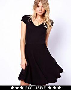 Oasis Plunge Neck Skater Dress