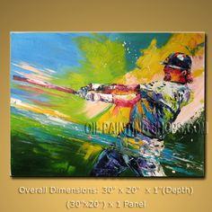 Colorful Contemporary Wall Art Hand-Painted Art Paintings For Bath Room Sport. In Stock $175 from OilPaintingShops.com @Bo Yi Gallery/ ops2116