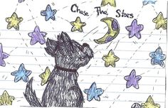 Notebook doodle of a dog. I was looking through my binder and found this. ~cherrydragon6