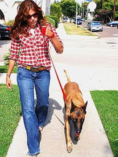happy people and pets  | ... Happy Family - EVA MENDES - Stars and Pets, Pet Photo Special : People