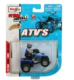 Maisto Atv's Motorized Green At650 All-terrain #15026 [Toy] [Toy] [Toy] [Toy] by maisto. $4.39. Collectible series. Ages 3 & up. Assorted styles and colors. Diecast body with plastic parts. Fresh Metal ATV