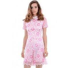 Melko Pink Lace Playsuit