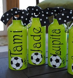 soccer soccer soccer! This would be cute to make for Kaitlyn and Chelsea.