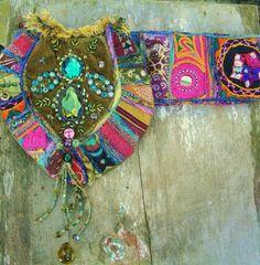 Gypsy Recycled Ethnic Tribal Belt Bag 3240inches par folkowl