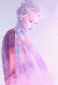 hazy cosmic pastel girl