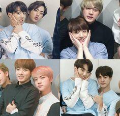 JK's fav seat - Jin's lap. Bts Jin, Bts Bangtan Boy, Bts Boys, Seokjin, Namjoon, Bts Name, What Is My Life, Taehyung, Bulletproof Boy Scouts
