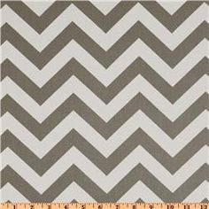 gray premier prints zig zag fabric - for Tavin's bumper...inside will be a light blue fabric.