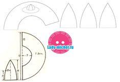 Выкройка головного убора – летней шляпки с полями - Шьем для женщин - Выкройки для женщин и мужчин - Каталог статей - Выкройки для детей, детская мода