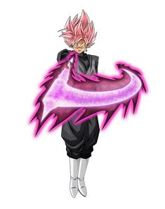 Goku Black Rose render 17 [Dokkan Battle] by on DeviantArt Goku Black Super Saiyan, Black Goku, Goku Super, Anime Couples Manga, Cute Anime Couples, Anime Girls, Dragon Ball Z, Rosario Vampire Anime, Dbz Characters