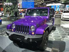 Extreme purple Jeep Wrangler 2016