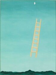 Georgia O'Keeffe - Ladder to the Moon, 1958 - Whitney Museum of American Art