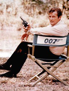 Roger Moore. Actor que protagonizó  al Agente 007.