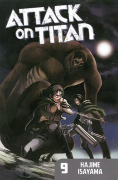Attack on Titan 9 by Hajime Isayama, http://www.amazon.co.uk/dp/1612625487/ref=cm_sw_r_pi_dp_.0TQsb0GGHW7V