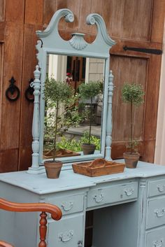 """There is just SOMETHING ABOUT """"Duck Egg Blue"""" by Annie Sloan chalk paint...."""
