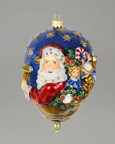Victorian+Santa+Oval+Glass+Ornament+by+Jay+Strongwater+at+Horchow.