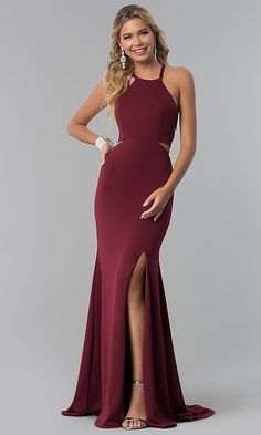 Corset-Back Long Prom Dress with Cut-Outs Matric Farewell Dresses, Matric Dance Dresses, Prom Dresses Under 200, Top Wedding Dresses, Lime Green Prom Dresses, Maroon Prom Dress, Vestidos Color Vino, Kids Bridesmaid Dress, Designer Party Dresses