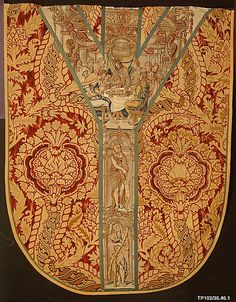 Back of a chasuble. 1525-50. Flemish, possibly Brussels. Wool, silk, silver and silver-gilt thread.