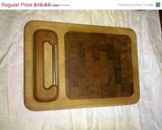 Mid century Teak Nissen cheese board with cheese cutter Denmark teak Beautiful ready to use must have.