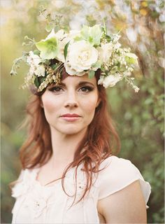 floral head piece -- Go here for your Dream Wedding Dress and Fashion Gown!https://www.etsy.com/shop/Whitesrose?ref=si_shop
