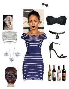 """Night Function"" by amandha88 on Polyvore featuring Hervé Léger, BERRICLE, Kenneth Cole, Stuart Weitzman, L'Agent By Agent Provocateur, 16 Braunton, women's clothing, women's fashion, women and female"