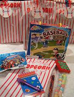 surprise bags, baseball theme party