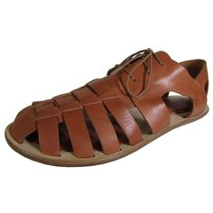 Gentle Souls Womens Ureka LE Lace Up Fisherman Sandal Shoe, Brown, US 7.5. Leather upper. Memory foam footbed. Rubber and leather outsole. Deerskin lining. GS01037CK GS01037LE GS01037MB.