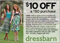 3e2bf4269c8 Get  10 off  50 on Regular Price Purchase Use Dressbarn Coupon ACCESS10  In-store Printable Dressbarn Coupon