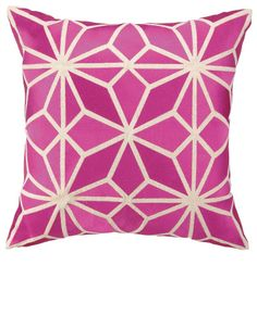 Modern Pink Embroidery Fashion Throw Pillow