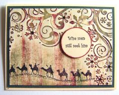 April Williams:  Inkadinkadoo Wisemen; Just For Fun sentiment; Cuttlebug Snowflake embossing folder; Distress Inks