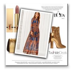 """""""TwinkleDeals"""" by newoutfit ❤ liked on Polyvore featuring Nina Ricci, Gianvito Rossi, Yves Saint Laurent, Kershaw and vintage"""