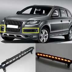 151.00$  Watch now - http://alinfz.worldwells.pw/go.php?t=32762140854 - With Yellow Turning Function ABS Cover 12V Car DRL LED Daytime Running Light For Audi Q7 2006 2007 2008 2009