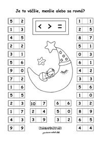 Pracovné listy z matematiky - prváci - Nasedeticky.sk First Grade Math Worksheets, Printable Math Worksheets, Free Kindergarten Worksheets, Kindergarten Learning, Toddler Learning Activities, Worksheets For Kids, Preschool Activities, Alphabet Letter Crafts, Math Charts