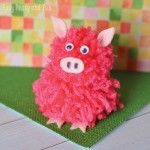 Pom Pom Pig Craft – Pom Pom Crafts all sorts of animals