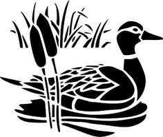 scroll saw patterns free - Google Search Silhouette Noire, Bird Silhouette, Silhouette Cameo Projects, Silhouette Design, Stencil Templates, Stencil Patterns, Glass Etching Stencils, Scroll Saw Patterns Free, Duck Pond