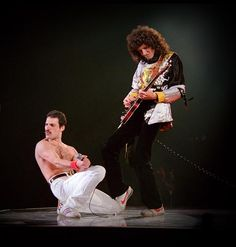 Freddie and Brian of Queen