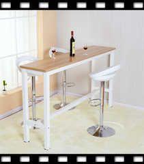 定制靠牆隔斷簡約吧台桌家用組合高腳桌椅長條桌奶茶店簡易高桌子