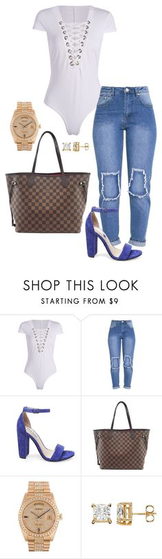 """Untitled #6"" by jacqueline-jj ❤ liked on Polyvore featuring Steve Madden, Louis Vuitton and Rolex"