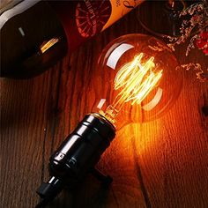 Works with I Like That Lamp DIY wiring kits: Dimmable Vintage Antique Style Edison Bulb Incandescent Squirrel Cage Filament Vintage Light Bulbs, Vintage Lighting, Cage, Dimmable Light Bulbs, Light Project, Amber Glass, Lighting Ideas, Squirrel, Vintage Antiques