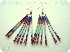 Make dangly earrings. | 24 Cool And Inexpensive Bobby Pin DIYs