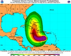 Loading Storm Graphics Loops  Hurricane Matthew projected track