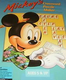 Disney's Mickey's Crossword Puzzle Maker PC Game...I have the floppy for this lying around here somewhere!